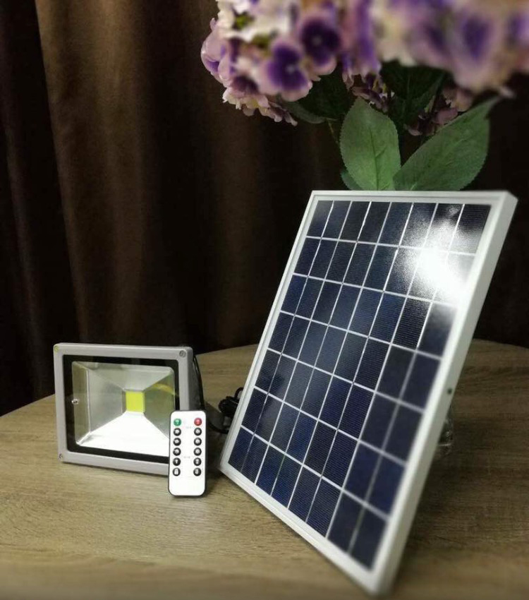 solar floodlight 20 watt white