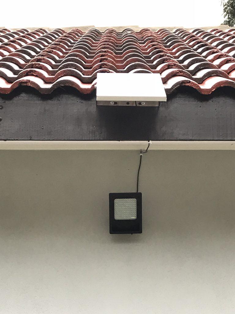 Lampu Solar yang dipasang