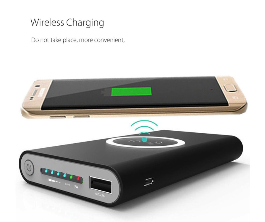 Note: Qi Wireless Charger Receiver is not included.vIf your mobile phone don't include internal Qi Charging Receiver, please buy and install the qi charging receiver,or you can't use the wireless charger powerbank.