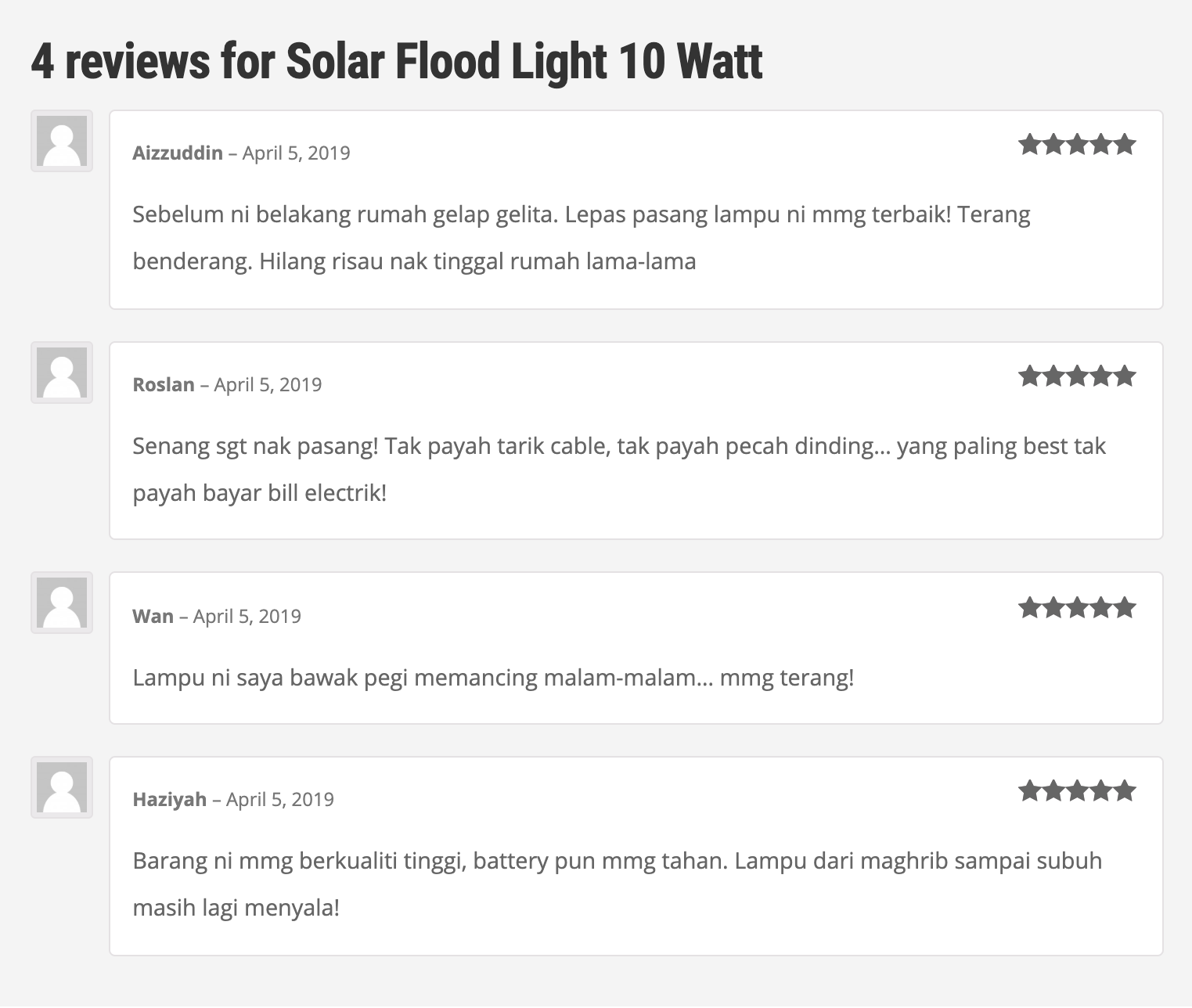review solar flood light
